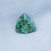 USA Cut! Fine Green Demantoid Garnet Trillion 1.29ct!