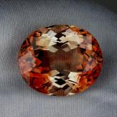 Bi-Color! Huge  Precious Topaz  Pakistan 36.54 ct GLI