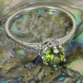 Antique! 14kt White Gold Russian Demantoid Garnet Ring GLI
