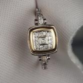 Antique ~ Vintage 18 kt European Cut Diamond Ring GLI