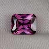 Fine Cutting! Intense Purple Cubic Zirconia GLI