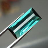 Color!  Blue Green Tourmaline Afghanistan 4.62 ct GLI