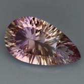 Concave Cut! Brilliant Natural Ametrine 4.37 carats GLI