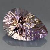 Concave Cut!  Brilliant  Natural Ametrine 6 carats GLI