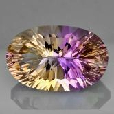 Concave Cut!  Bright & Pretty Natural Ametrine Brazil 11.26 ct GLI