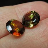 Ultra Rare! Big Matched Andalusite Pair Brazil 6.44 ct GLI