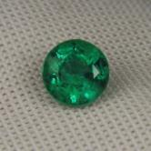 Great Color! Natural  Zambian Emerald Calibrated 6 mm!  GLI