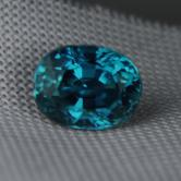 Special Color & Quality!  Blue Zircon Cambodia 3.71ct GLI