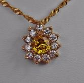 Special Price! GIA Certified! Natural Fancy Color Diamond Pendant! GLI