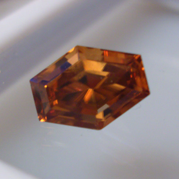 Amber Orange Natural Honey Zircon Tanzania  GLI Litnon.com