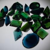Dark  Blue & Green Afghan Tourmaline Lot 25 ct GLI