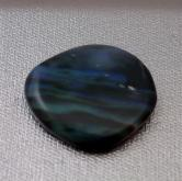 Natural Freeform Solid Black Opal  GLI