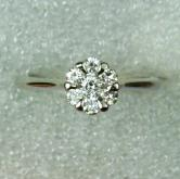 Diamond 14 kt White Gold Ring GLI