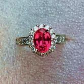 Special Quality! Mahenge Spinel 18kt Diamond Ring GLI